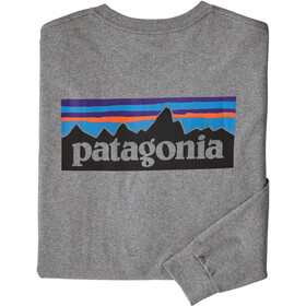 Patagonia P-6 Logo T-shirt Manches longues Homme, gravel heather